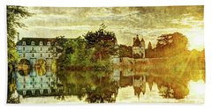 September Sunset In Chenonceau - Vintage Version Beach Towel