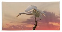 Sepulveda Basin Crane 2 Beach Towel