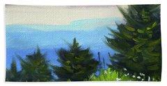 Beach Towel featuring the painting Sequim Vista by Nancy Merkle