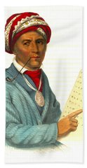 Beach Towel featuring the photograph Sequoyah 1838 by Padre Art
