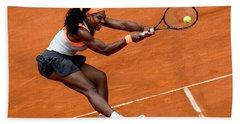 Serena Williams 1 Beach Towel