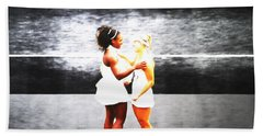 Serena Williams And Angelique Kerber 3a Beach Sheet by Brian Reaves