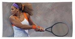 Serena Williams Artwork Beach Towel