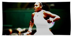 Serena Williams Making History Beach Sheet by Brian Reaves