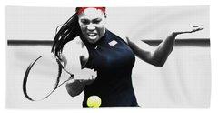 Serena Williams Stay Focused Beach Towel by Brian Reaves