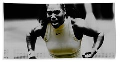 Serena Williams Still I Rise 1a Beach Sheet by Brian Reaves
