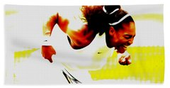 Serena Williams Still I Rise Beach Towel by Brian Reaves