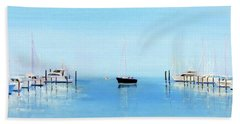 Serene Atlantic Highlands Marina Beach Towel