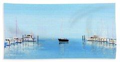 Serene Atlantic Highlands Marina Beach Towel