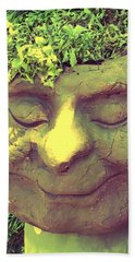 Serene Garden Man Beach Towel