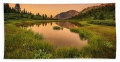 Serene Lake Beach Sheet