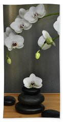 Serene Orchid Beach Towel by Terence Davis