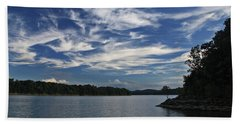 Beach Towel featuring the photograph Serene Skies by Gary Kaylor