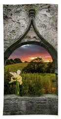 Beach Towel featuring the photograph Serene Sunset Over County Clare by James Truett