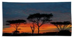 Serengeti Sunrise Beach Towel