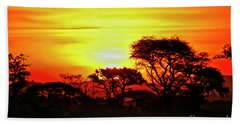 Serengeti Sunset Beach Sheet