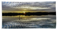 Serenity On A Paddleboard Beach Towel