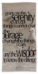 Beach Towel featuring the photograph Serenity Prayer 01 by Vicki Ferrari