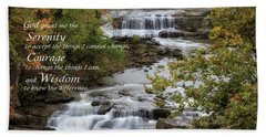 Beach Towel featuring the photograph Serenity Prayer by Dale Kincaid