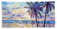 Serenity Under The Palms Beach Towel by Lou Ann Bagnall