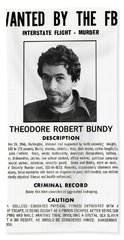 Serial Killer Ted Bundy Beach Sheet by Daniel Hagerman