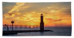 Beach Towel featuring the photograph Serious Sunrise by Bill Pevlor
