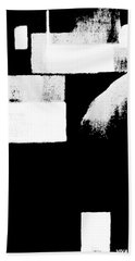 Seriously Black And White Beach Towel
