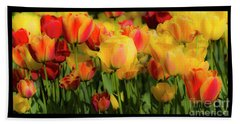 Beach Towel featuring the photograph Seriously Spring - Bordered by Wendy Wilton