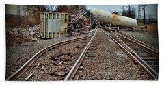 Serpentine Railroad Tracks Beach Towel