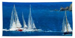 Beach Towel featuring the digital art Set Sail by Anthony Fishburne