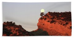 Setting Full Moon Beach Towel