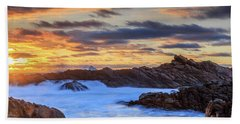 Setting Sun At Canal Rocks Beach Towel