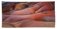 Seven Colored Earth In Chamarel 8. Series Earth Bodyscapes. Mauritius Beach Towel