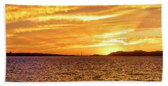 Sf Bay Area Sunset Beach Towel