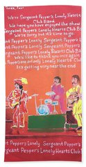 Sgt. Pepper's Lonely Hearts Club Band Reprise Beach Sheet