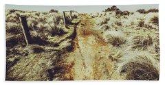 Shabby Outback Path Beach Towel