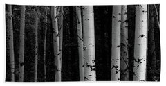 Beach Towel featuring the photograph Shades Of A Forest by James BO Insogna