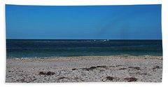 Beach Towel featuring the photograph Shades Of Blue by Michiale Schneider