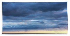 Beach Towel featuring the photograph Shades Of Blue.. by Nina Stavlund