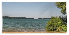 Beach Towel featuring the photograph Shades Of Green And Blue by Sue Smith