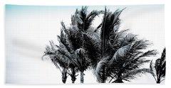 Shades Of Palms - Silver Blue Beach Towel