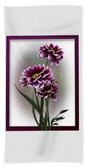Beach Towel featuring the photograph Shades Of Purple by Judy Johnson