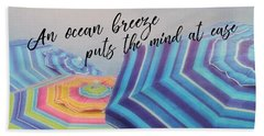 Shades Of Summer Quote Beach Towel