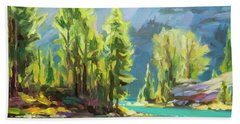 Beach Towel featuring the painting Shades Of Turquoise by Steve Henderson