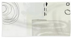 Shades Of White 4- Art By Linda Woods Beach Towel