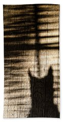 Shadow Cat Beach Sheet