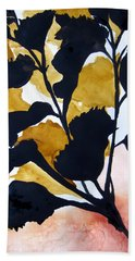 Shadow Hibiscus Beach Towel