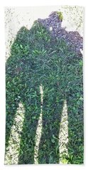 Beach Towel featuring the photograph Shadow In The Meadow by Wilhelm Hufnagl