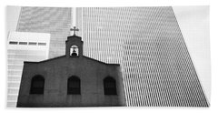 Shadow Of World Trade Center Beach Towel