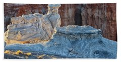 Beach Sheet featuring the photograph Shadows At Coal Mine Canyon by Tom Kelly